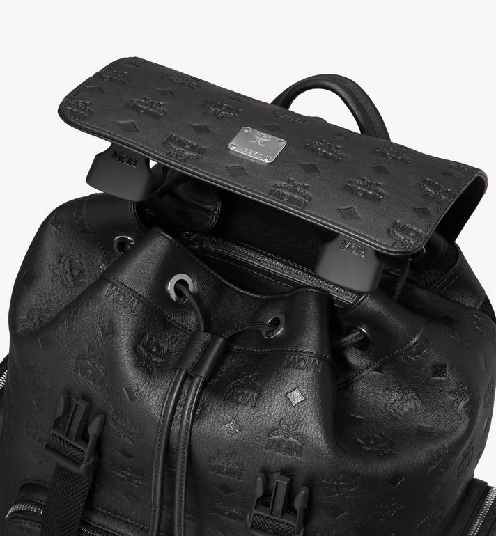 MCM Brandenburg Rucksack aus Leder mit Monogramm Black MMKASBG10BK001 Alternate View 4