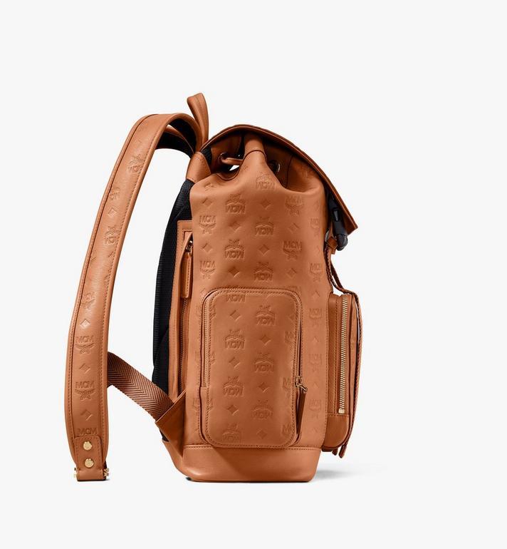 MCM Brandenburg Backpack in Monogram Leather Cognac MMKASBG10CO001 Alternate View 2