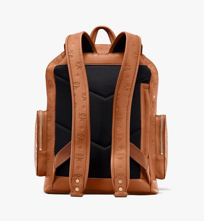 MCM Brandenburg Backpack in Monogram Leather Cognac MMKASBG10CO001 Alternate View 3
