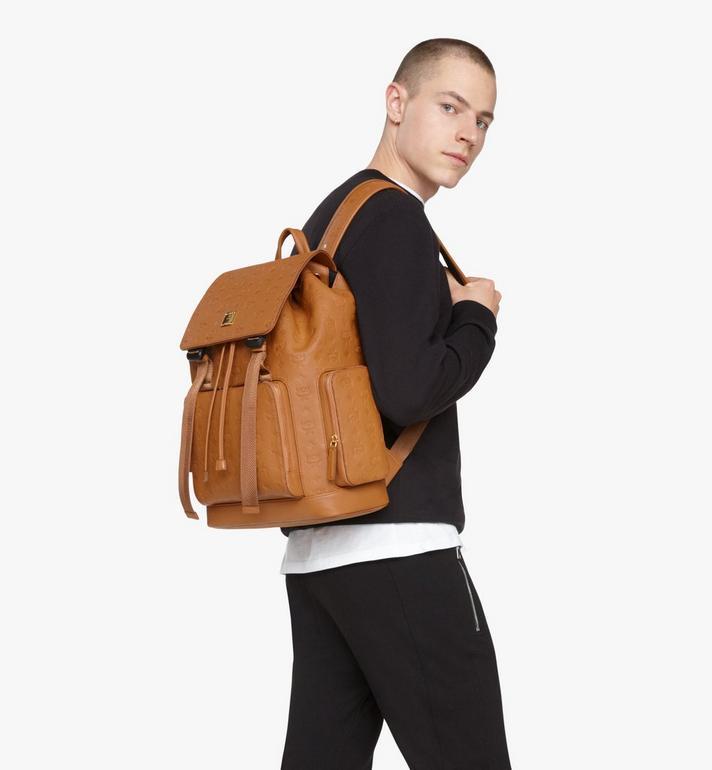 MCM Brandenburg Backpack in Monogram Leather Cognac MMKASBG10CO001 Alternate View 8