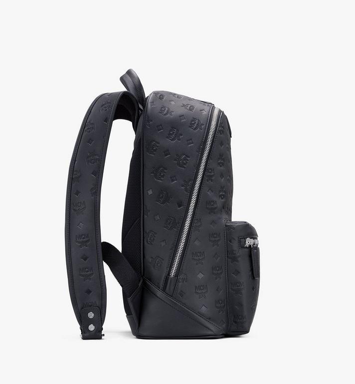 MCM Neo Duke Backpack in Monogram Leather Black MMKASDK01BK001 Alternate View 2