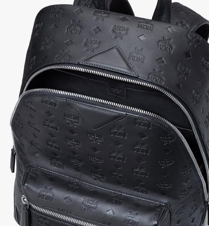 MCM Neo Duke Backpack in Monogram Leather Black MMKASDK01BK001 Alternate View 4