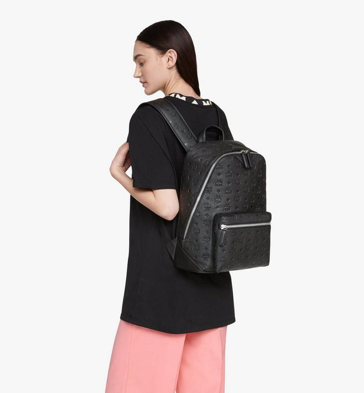 MCM Neo Duke Backpack in Monogram Leather Black MMKASDK01BK001 Alternate View 6