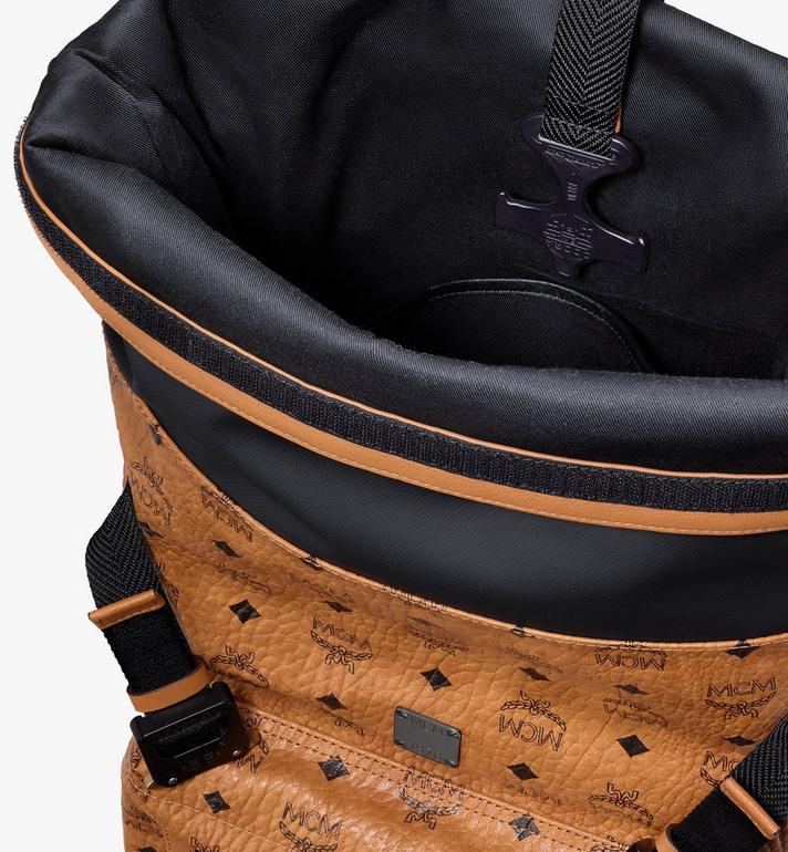 MCM 1976 Roll-Top Backpack in Visetos Cognac MMKASMV02CO001 Alternate View 4