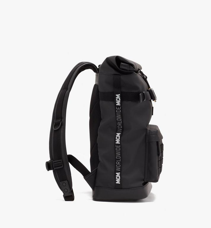 MCM 1976 Rolltop-Rucksack Black MMKASMV03BK001 Alternate View 2