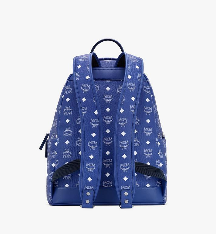 MCM Stark Rucksack in Visetos Blue MMKASVE02H1001 Alternate View 3