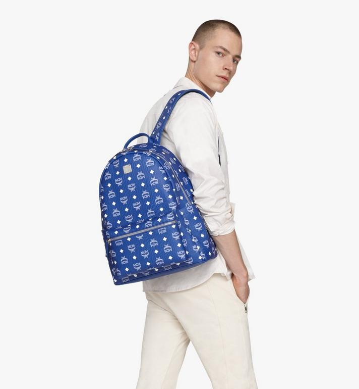 MCM Stark Backpack in Visetos Blue MMKASVE02H1001 Alternate View 6