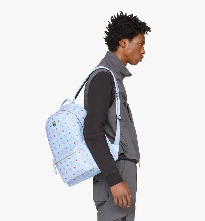 MCM Stark Backpack in Visetos Blue MMKASVE02H2001 Alternate View 6