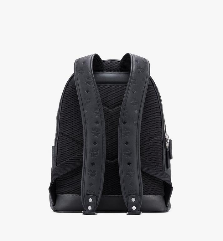 MCM Stark Backpack in Monogram Leather Black MMKASVE09BK001 Alternate View 3