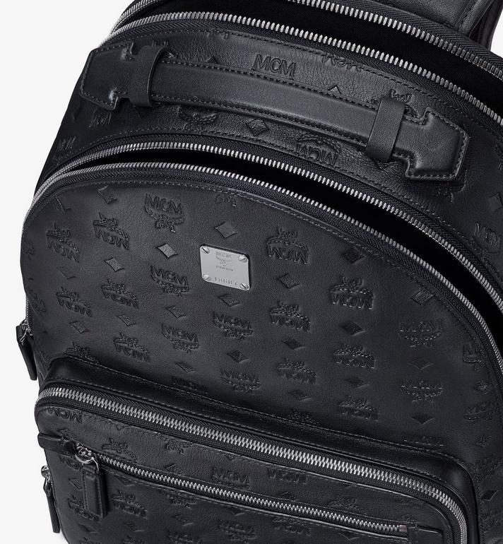 MCM Stark Backpack in Monogram Leather Black MMKASVE09BK001 Alternate View 4