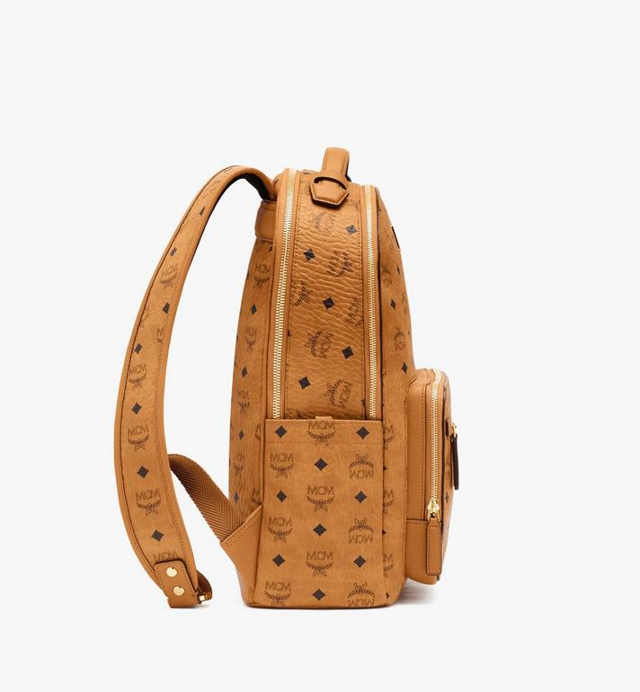 MCM Stark Backpack in Visetos Cognac MMKASVE10CO001 Alternate View 2