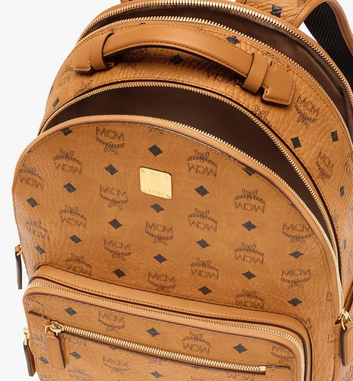 MCM Stark Visetos 雙肩後背包 Cognac MMKASVE10CO001 Alternate View 4