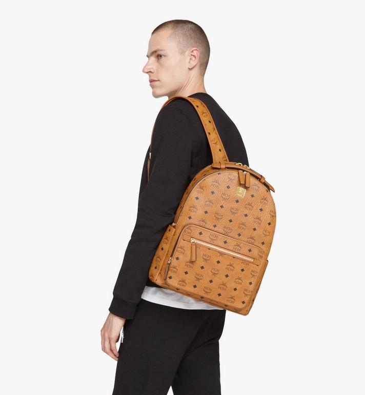 MCM Stark Backpack in Visetos Cognac MMKASVE10CO001 Alternate View 8