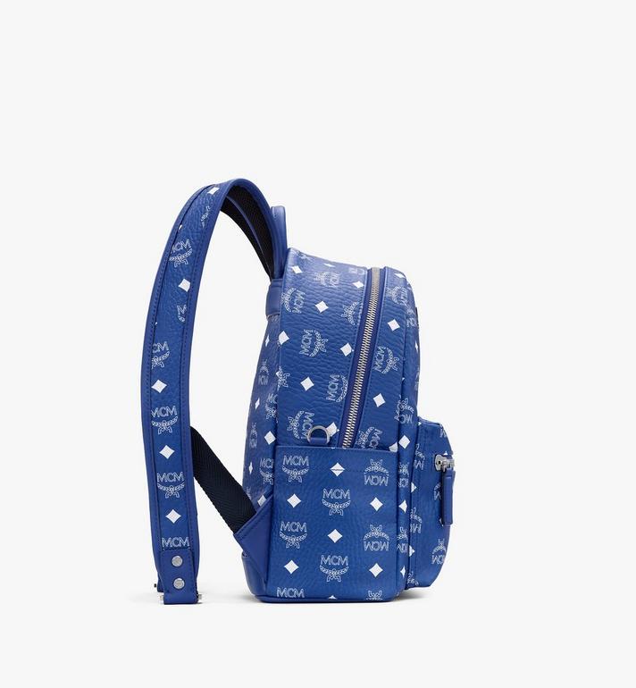 MCM Stark Backpack in Visetos Blue MMKASVE12H1001 Alternate View 2
