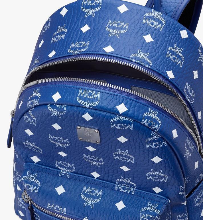MCM Stark Backpack in Visetos Blue MMKASVE12H1001 Alternate View 4