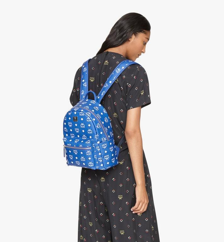 MCM Stark Backpack in Visetos Blue MMKASVE12H1001 Alternate View 6