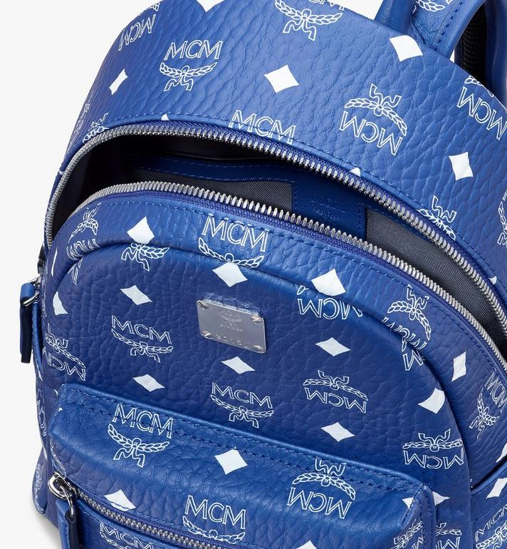 MCM Stark Backpack in Visetos Blue MMKASVE13H1001 Alternate View 4