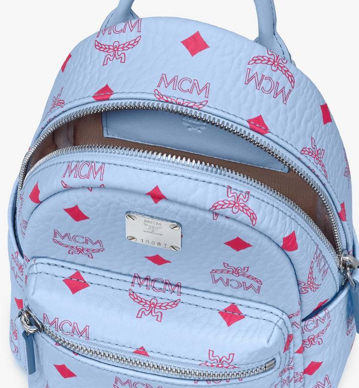 MCM Stark Backpack in Visetos Blue MMKASVE14H2001 Alternate View 4