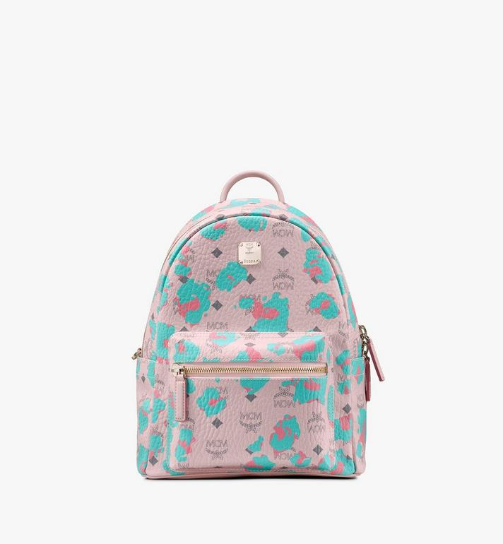 MCM Stark Backpack in Floral Leopard Pink MMKASVE22QI001 Alternate View 1