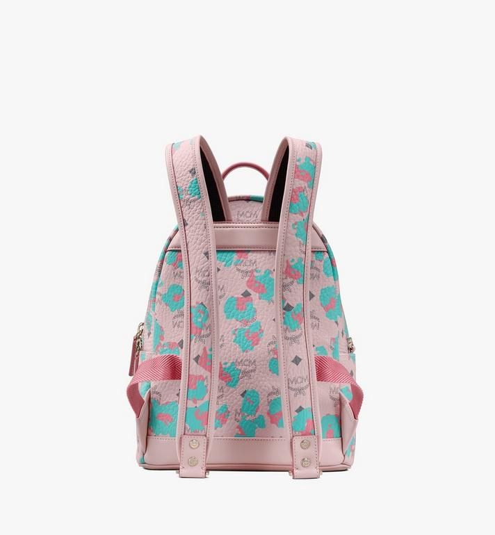 MCM Stark Backpack in Floral Leopard Pink MMKASVE22QI001 Alternate View 3
