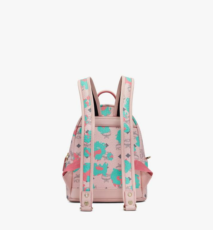 MCM Stark Backpack in Floral Leopard Pink MMKASVE23QI001 Alternate View 3