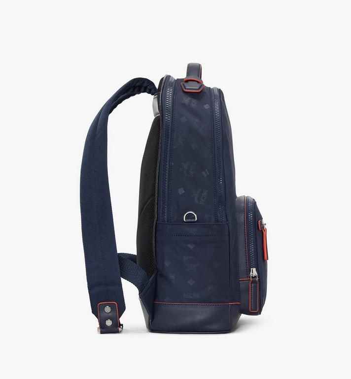 MCM Stark Backpack in Monogram Nylon Navy MMKASVE24VA001 Alternate View 2