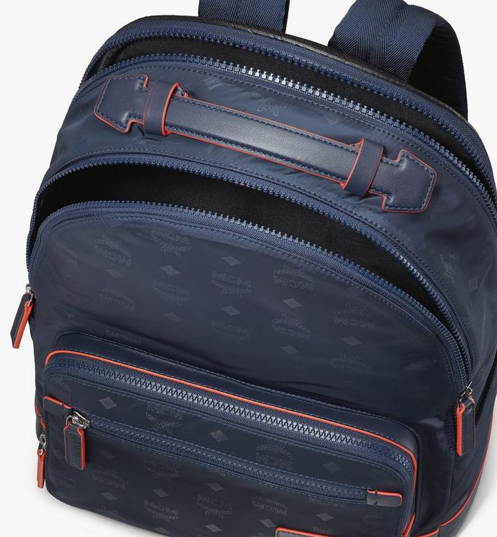 MCM Stark Backpack in Monogram Nylon Navy MMKASVE24VA001 Alternate View 4