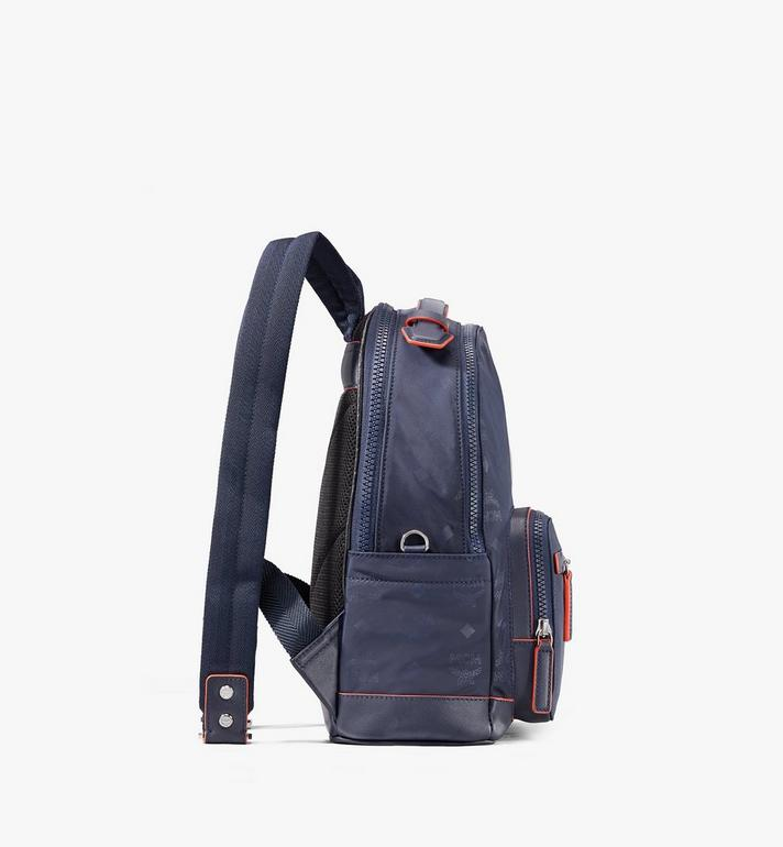 MCM Stark Backpack in Monogram Nylon Navy MMKASVE25VA001 Alternate View 2