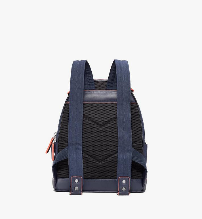 MCM Stark Backpack in Monogram Nylon Navy MMKASVE25VA001 Alternate View 3