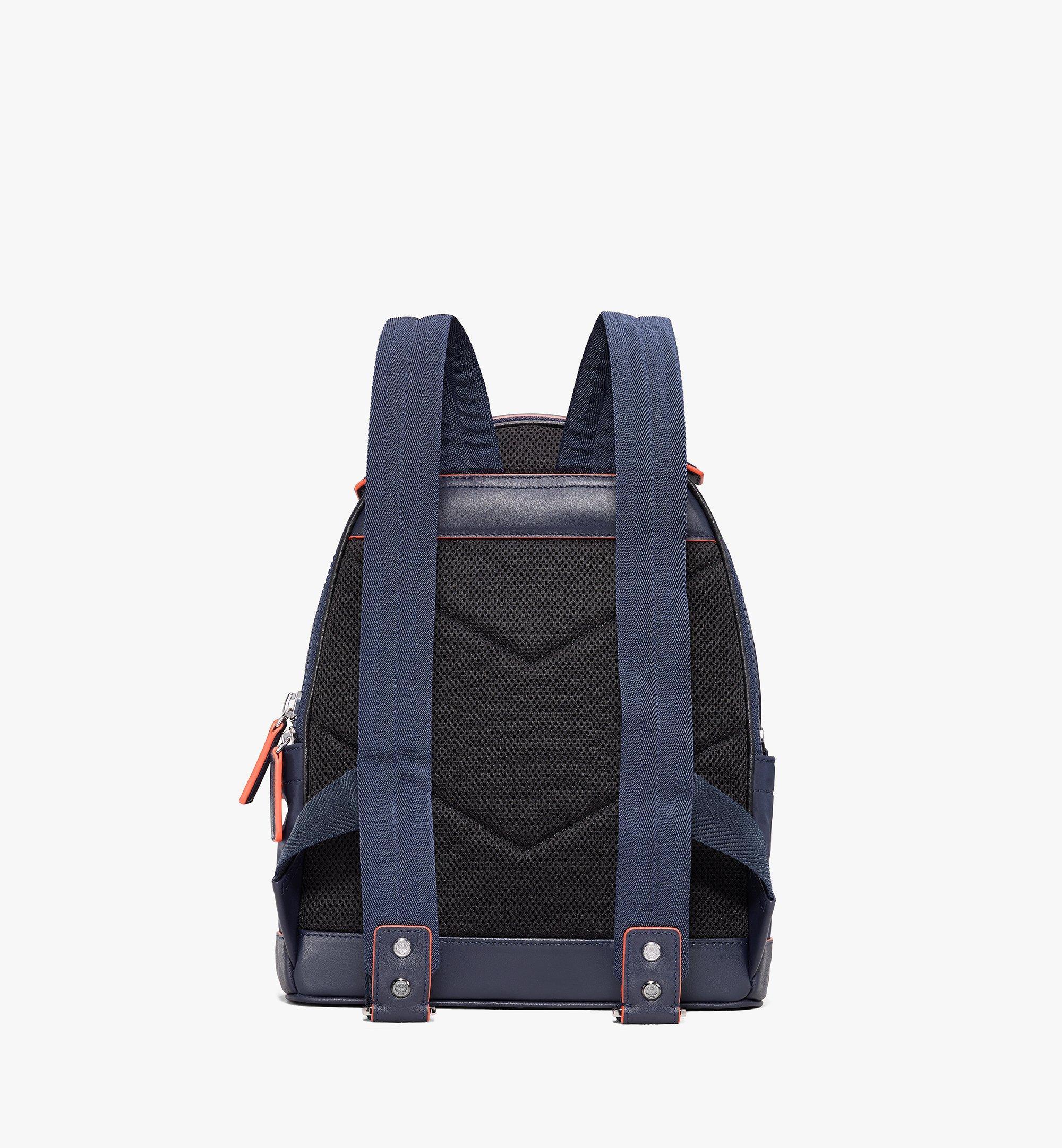 MCM Stark Backpack in Monogram Nylon Blue MMKASVE25VA001 Alternate View 3