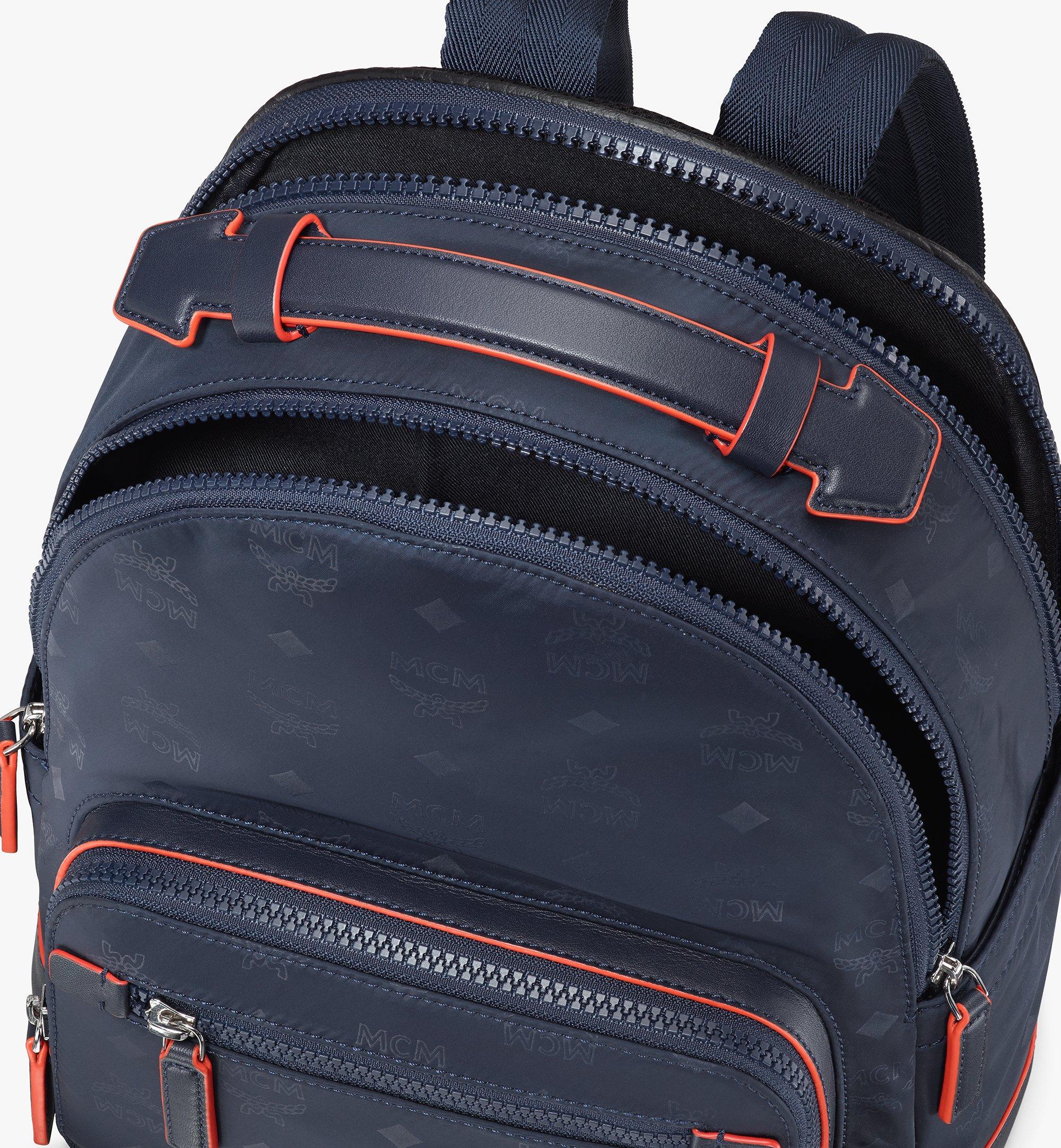 MCM Stark Backpack in Monogram Nylon Blue MMKASVE25VA001 Alternate View 4