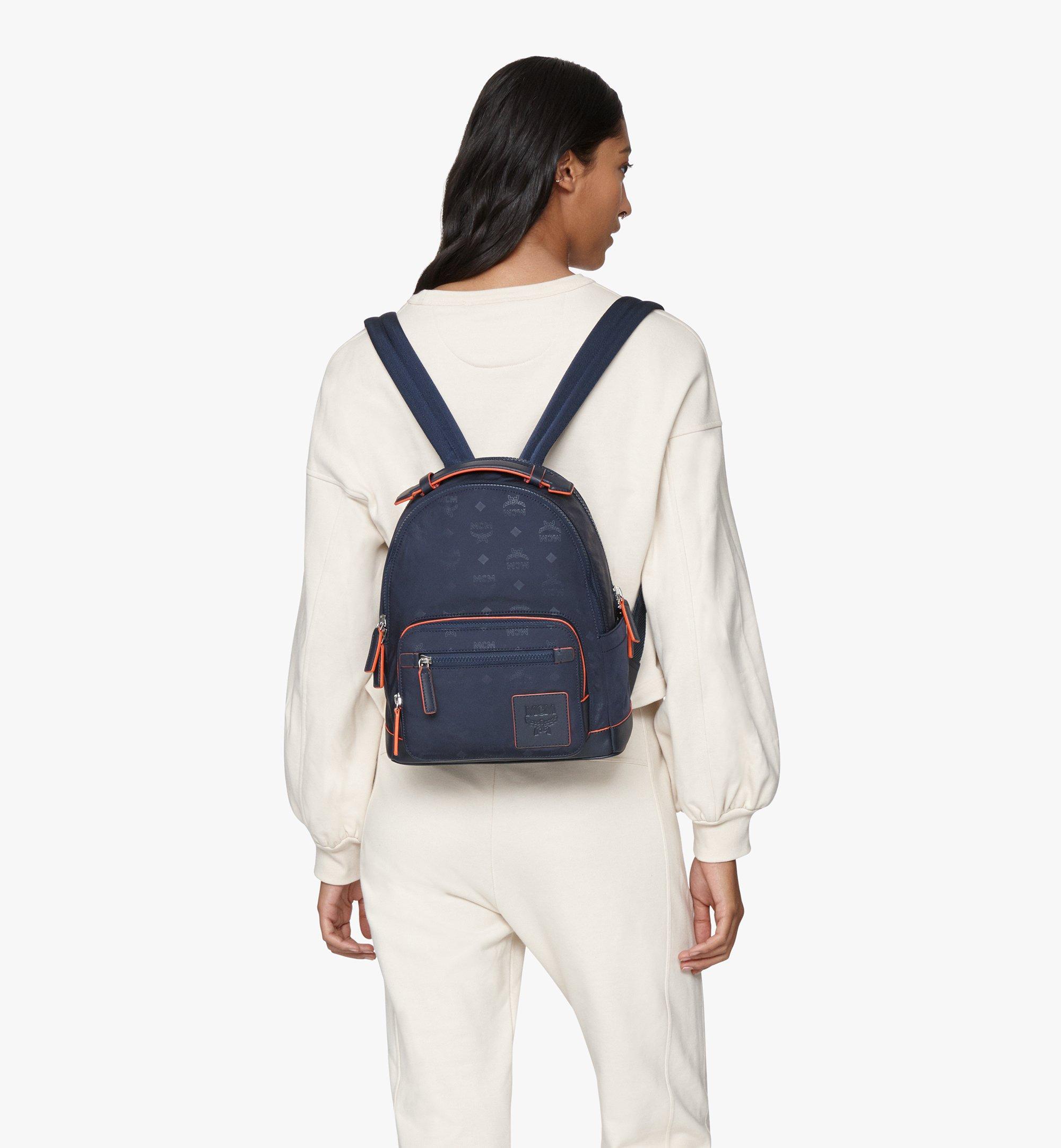 MCM Stark Backpack in Monogram Nylon Blue MMKASVE25VA001 Alternate View 6