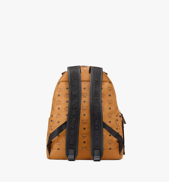MCM Stark Backpack in Visetos Cognac MMKASVE26CO001 Alternate View 3