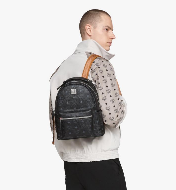 MCM Stark Backpack in Visetos Black MMKASVE27BK001 Alternate View 6