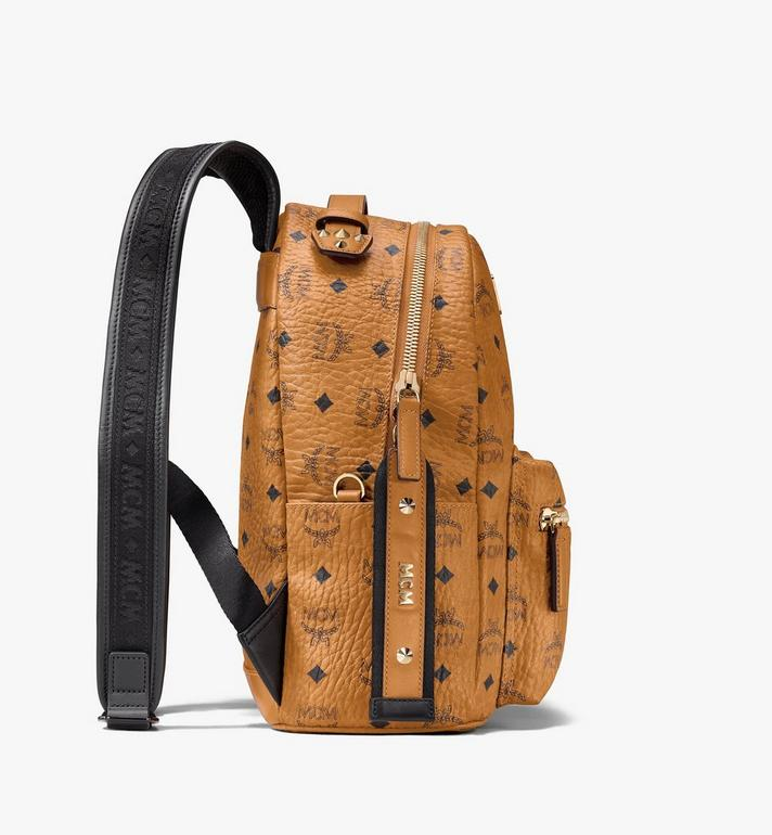 MCM Stark Backpack in Visetos Cognac MMKASVE27CO001 Alternate View 2