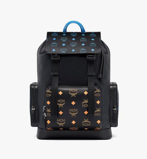 Brandenburg 潑彩品牌標誌皮革背包