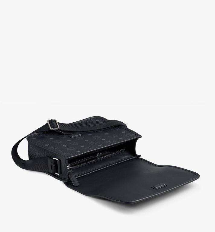 MCM Klassik Messenger Bag in Visetos Black MMMAAKC03BK001 Alternate View 3
