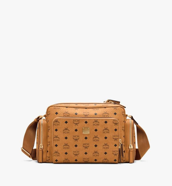 MCM Sacoche Klassik en Visetos Cognac MMMASKC01CO001 Alternate View 1