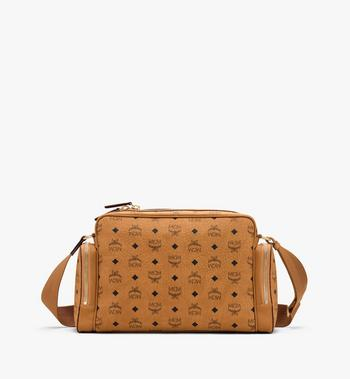 MCM Klassik Messenger in Visetos Cognac MMMASKC01CO001 Alternate View 3