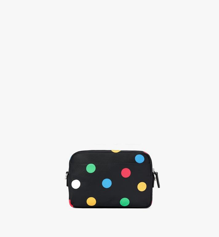 MCM Klassik Crossbody in Polka Dot Nylon Black MMRAAKC07BK001 Alternate View 4