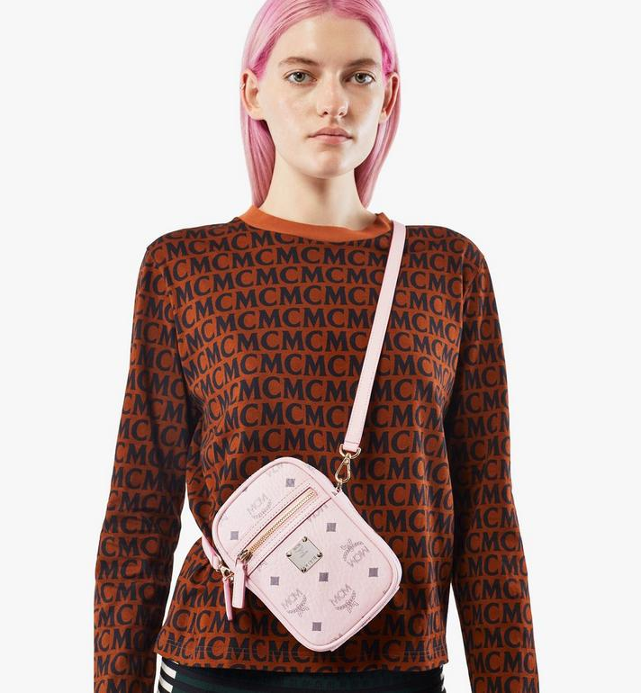 MCM Klassik Crossbody in Visetos Pink MMRAAKC17QH001 Alternate View 7