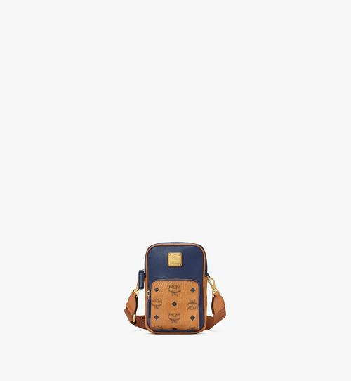 N/S Tech Crossbody in Visetos Leather Block