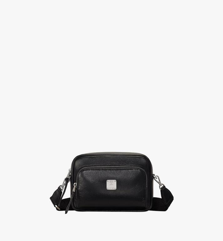 MCM Klassik 壓光皮革斜揹包 Black MMRASKC01BK001 Alternate View 1