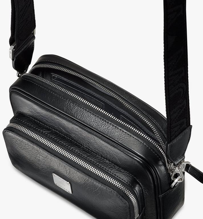MCM Klassik 壓光皮革斜揹包 Black MMRASKC01BK001 Alternate View 4