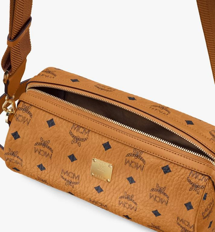 MCM Visetos 皮革 Klassik 斜背包 Cognac MMRASKC04CO001 Alternate View 4