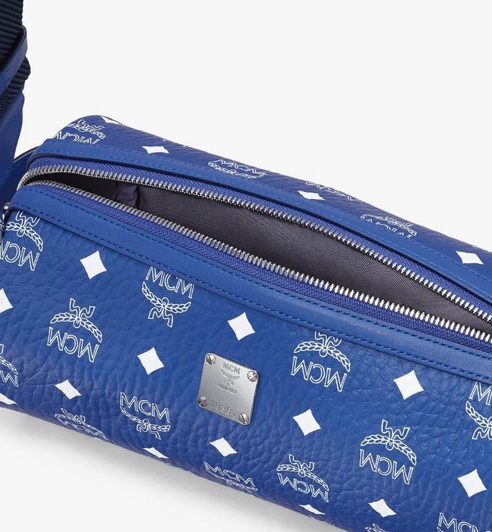 MCM Klassik Crossbody-Tasche in Visetos Blue MMRASKC05H1001 Alternate View 4