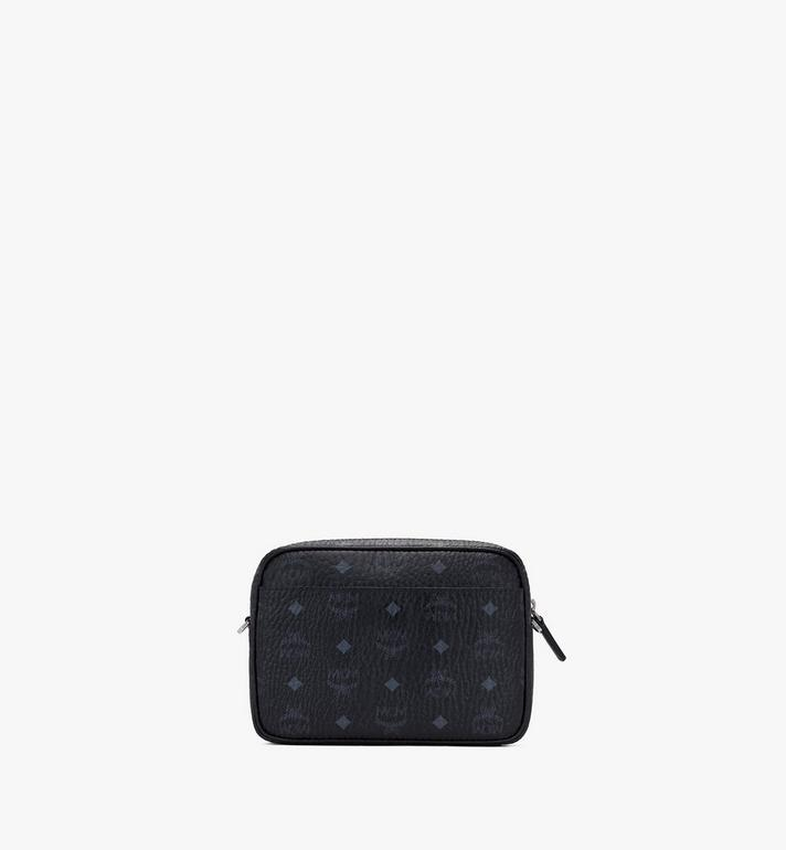 MCM Klassik Crossbody in Visetos Black MMRASKC06BK001 Alternate View 3