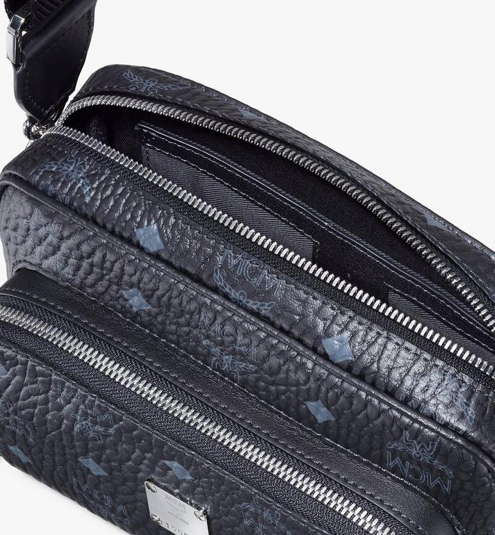 MCM Klassik Crossbody in Visetos Black MMRASKC06BK001 Alternate View 4