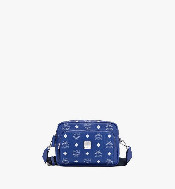 MCM Klassik Crossbody in Visetos Blue MMRASKC07H1001 Alternate View 1