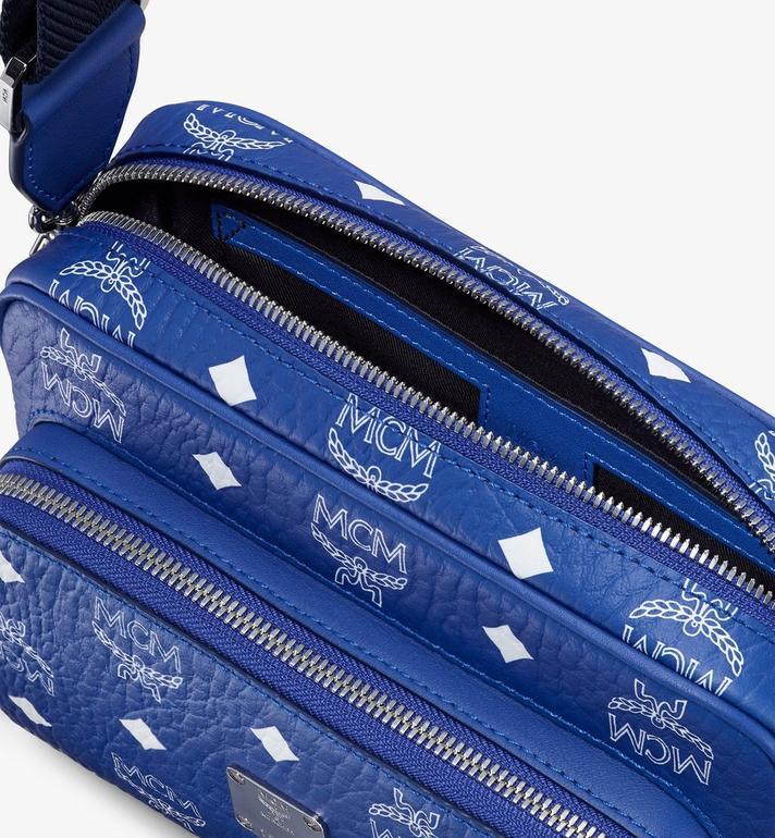 MCM Klassik Crossbody in Visetos Blue MMRASKC07H1001 Alternate View 4
